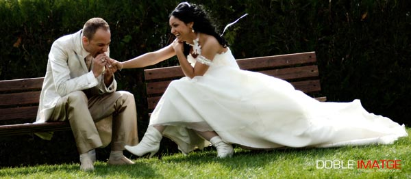 Todas las novias sueñan con llevar cola el día de su boda